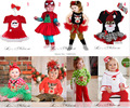 Baby Girl Little Elves Collection Ornament Tunic Skirt Christmas Set New Tutu Dress Skirt + Pants Leggings Outfit