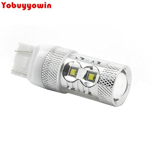 Free Shipping 2 pcs White 7443 Backup Reverse Light 7440 T20 High Power 60W 12 Cree Chip Led for Cadillac