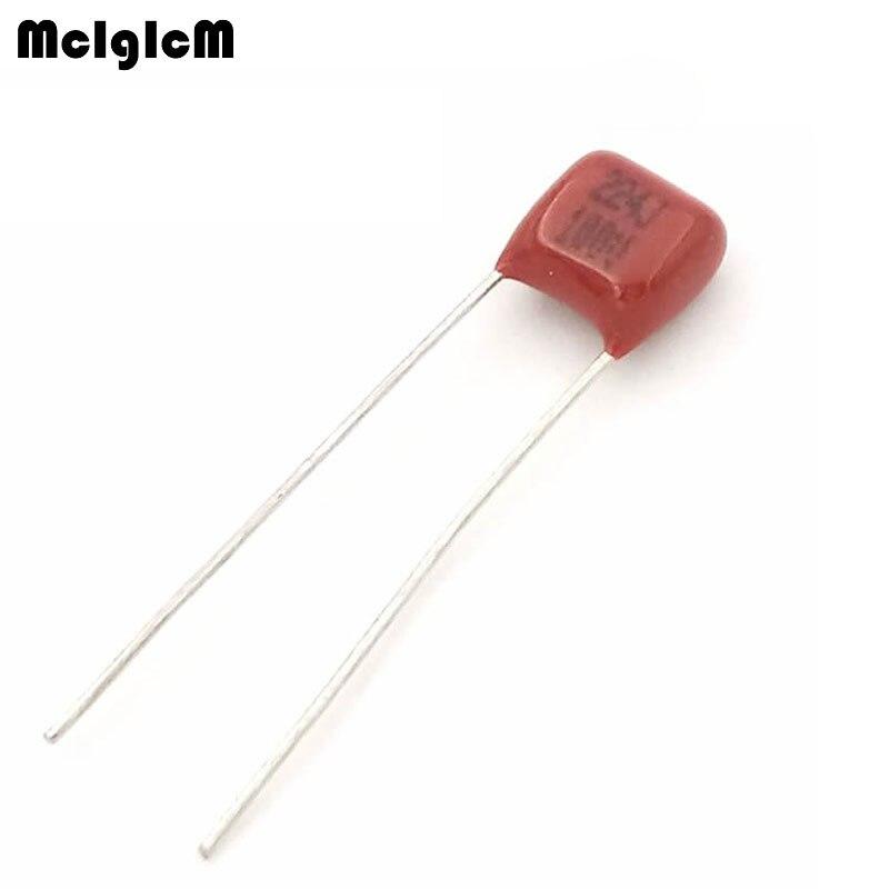 MCIGICM 1000 pcs 220nF 224J 100V CBB Polypropylene film capacitor pitch 5mm 224 220nF 100V