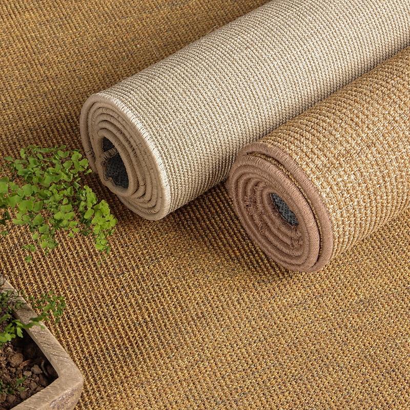 Hot Sale Sisal Carpet Sitting Room Tea Table Bedroom Door Mat Porch Indoor Rug Handmade Straw Tatami Non-slip Jute Foot Mat