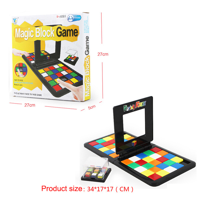2 styles Rubiks Race Magic Block Game 6+ Years Old The Gathering Blocks Gift Children Party Toys Favors Board Game Family Toys#E