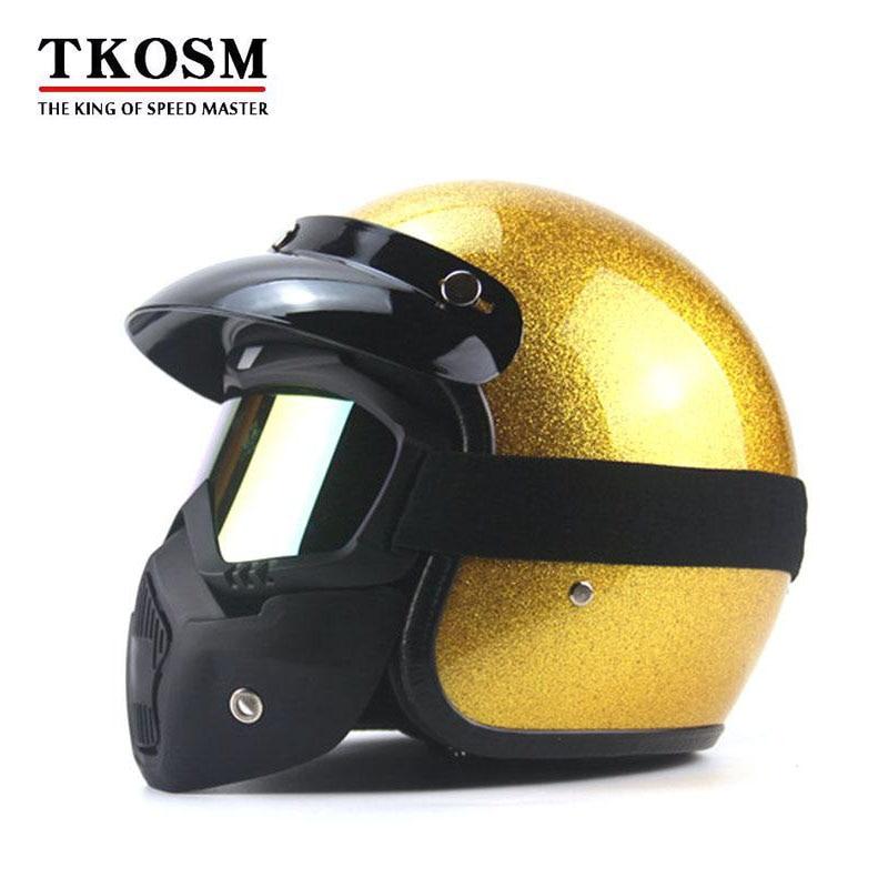 TKOSM 2017 New Style Motorcycle Motorbike Helmet Vespa Open Face Harley Retro Moto Helmets Casque Casco Capacete Motoqueiro DOT