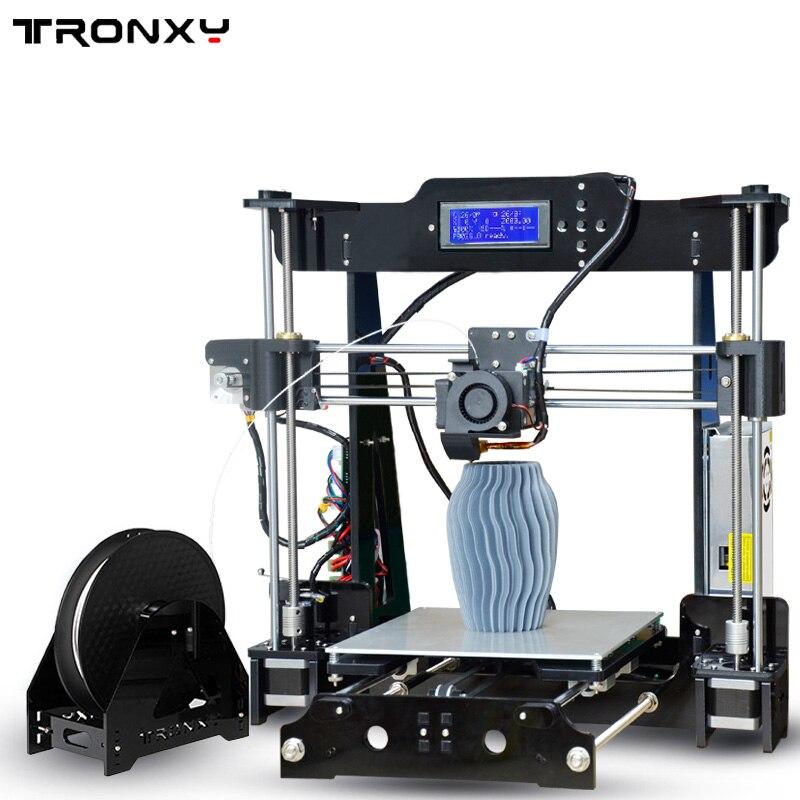 Tronxy 2019 アップグレード品質高精度 Reprap 3D プリンタ DIY キット P802M 最大印刷サイズ 220*220*240 ミリメートル  グループ上の パソコン & オフィス からの 3D プリンタ の中 1