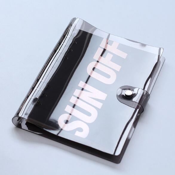 A5 A6 PVC Transparent Spiral Agenda Traveler Journal Notebook Sheet Shell School DIY 6 Holes Binder Diary Planner Cover