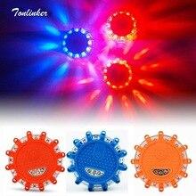 Tonlinker мини 12 светодиодный аварийный дорожный фонарик магнит мигающий Предупреждение ночные огни дорожный диск Маяк для автомобиля/грузовика/внедорожника