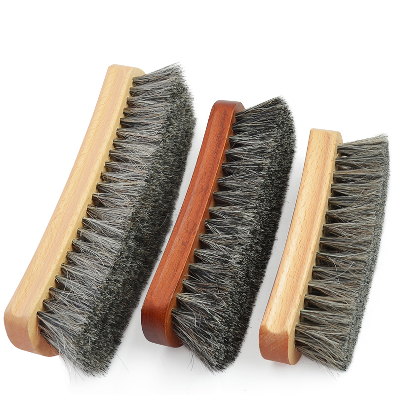 Superior Horsehair Brush, Shoe Brush, Suede Soft Fur Shoes Cleaning And Dust Removal Tools