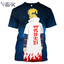 Anime Naruto fashion T-shirt summer new mens and womens short-sleeved sweatshirt 3D printing round neck