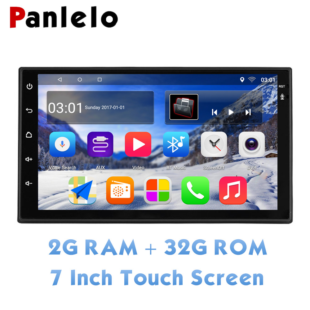 "Panlelo 2 Din Quad Core Touch Screen Car Stereo 2G+32G 7"" 1080P Autoradio Android 8.1 Head Unit GPS Navigation Audio Radio WiFi"