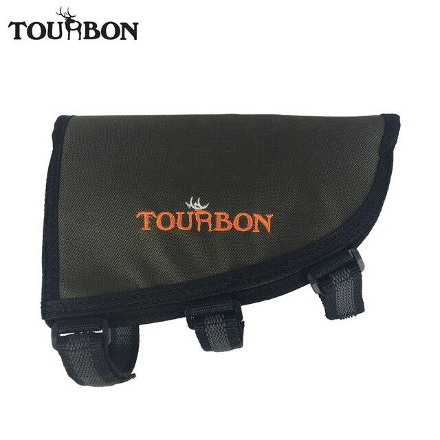 Tourbon Gun Butt Stock Cheek Rest Tactique Gaucher Non-slip Rembourré Fusil Shell Sachet Détiennent 10 Cartouches de Chasse accessoire