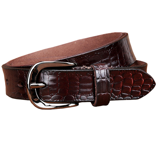 Fashion Belts for women Genuine leather belt woman High quality Designer Crocodile second layer Cow skin strap female for jeans