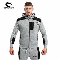 2017 primavera outono novo produto moletom com capuz moletom com capuz, moda marca sportswear camisa de zíper, homens logotipo popular
