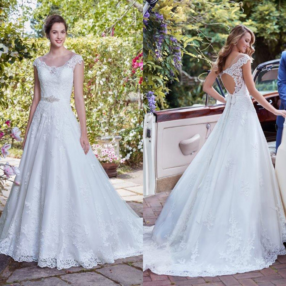 Silky Organza Luxury Lace Bride Wedding Dress 2019 New Sexy