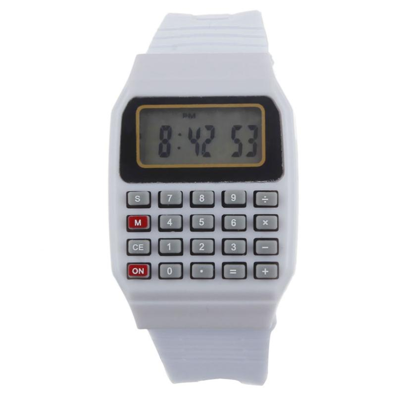 Relogio Masculino Wrist Watches Watch Dropshipping Gift Unsex Silicone Multi-Purpose Date Time Electronic Calculator july26 new fashion design unisex sport watch silicone multi purpose date time electronic wrist calculator boys girls children watch