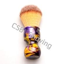 Новый дизайн смолы ручка синтетические волосы помазок Для мужчин борода помазок Парикмахерская бритья инструменты 26 мм