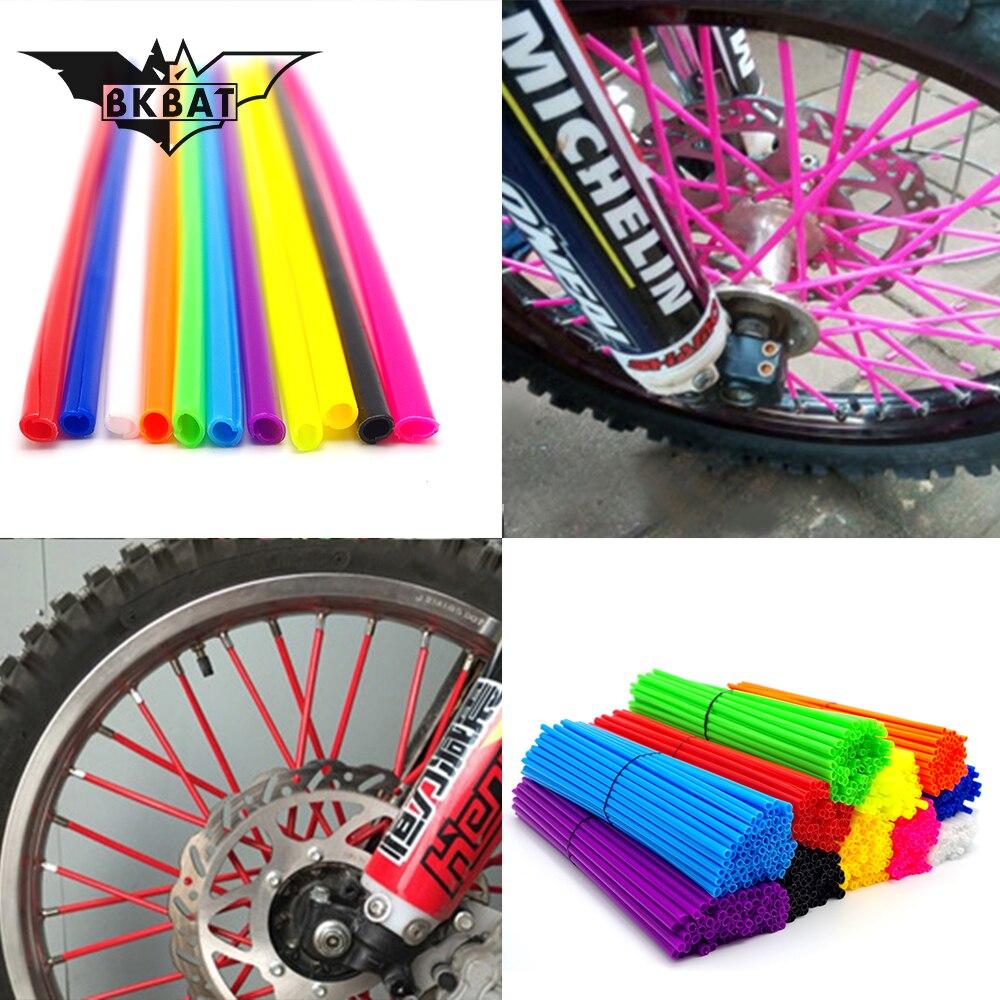 36Pcs Wheel RIM Spoke Skins Sticker Accessories Motocross Dirt Bike For HONDA XR CR CRF CRM 50F 230F 230L 230M 250L 250M 250X