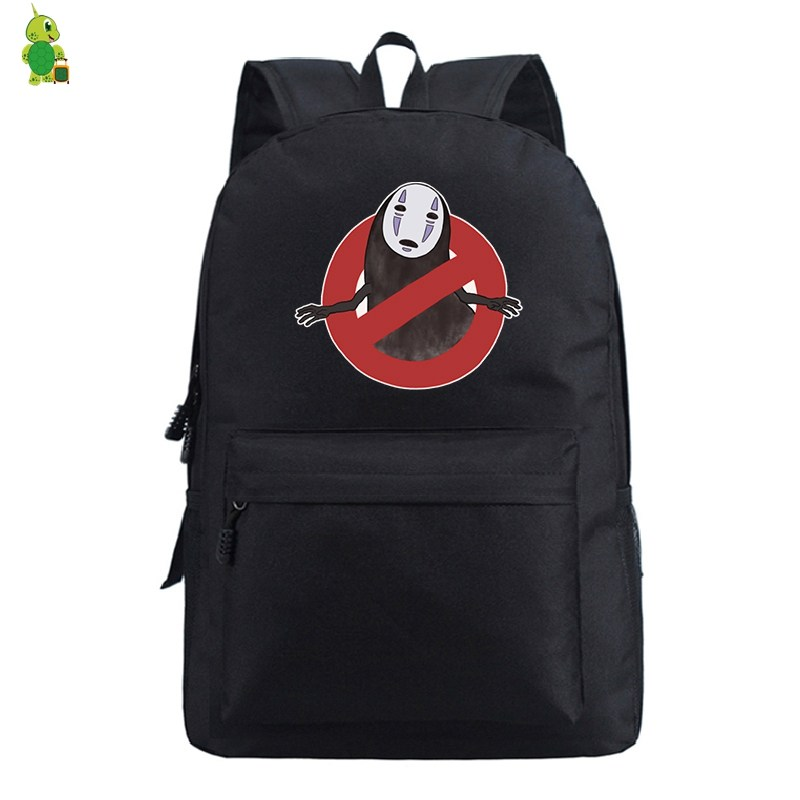 No Face Man School Bags for Teenagers Boys Girls Ghibli <font><b>Spirited</b></font> <font><b>Away</b></font> <font><b>Backpack</b></font> Solid Travel Rucksack Women Men Laptop <font><b>Backpack</b></font> image