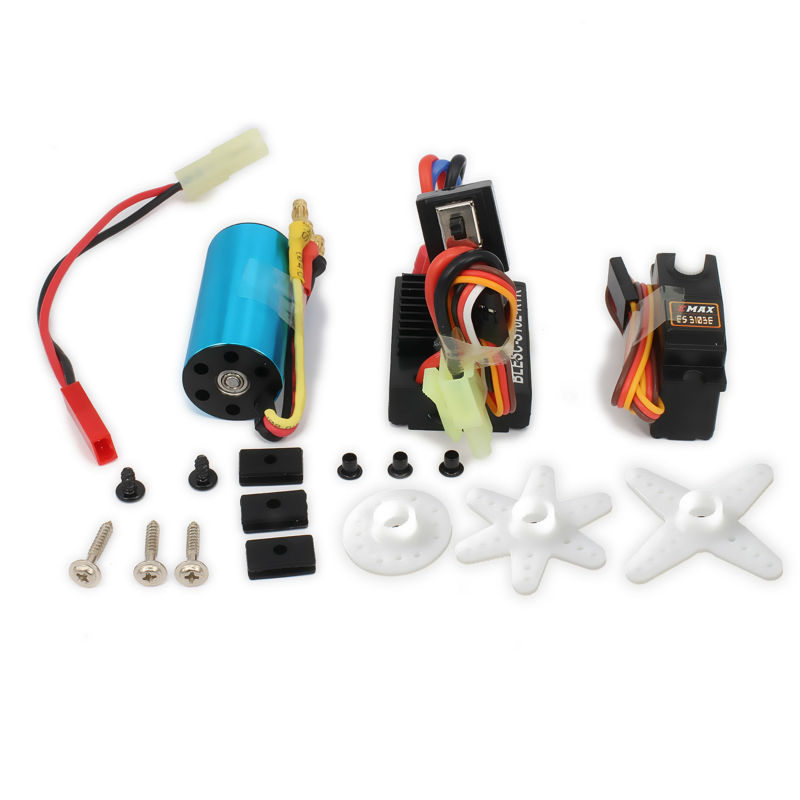 17g Servo + Kv4800 Brushless Motor Speed Controller ESC  For Rc Car Airplane Boat Aquacraft Edf Hsp Wltoys A959 A969 A979 K929 3650 3900kv 4p sensorless brushless motor 60a brushless elec speed controller esc w 5 8v 3a switch mode bec for 1 10 rc car