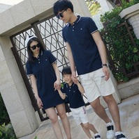 2017 Summer Family Set Mother Daughter Dresses Father Son T Shirts Mom And Daughter Dress Clothes
