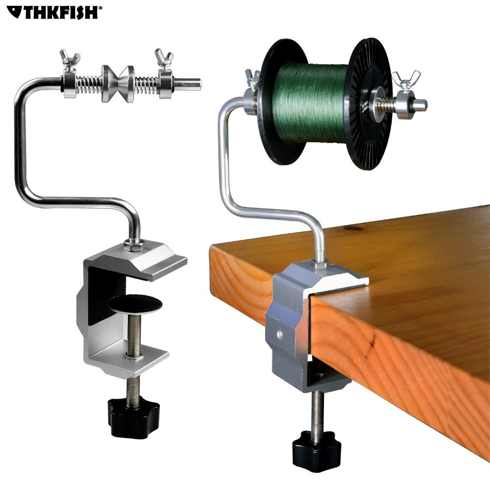 Portable Aluminum Stable Fishing Line Winder Line Spool Spooler System Suction Cup Fishing Line Accessories Tool