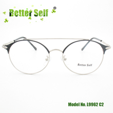 Better Self L9962 Women Men Eyeglasses Frames Retro Round Glasses Light Pilot Alloy Eyewear Optical Plain Clear Lens Glasses цена