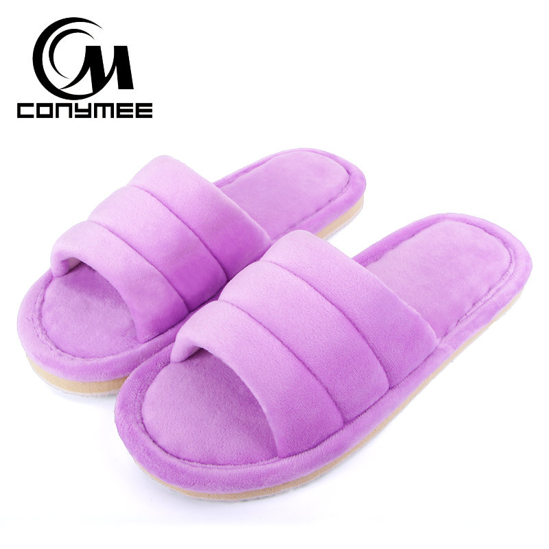 Winter 2018 Indoor Shoes Woman Fur Slippers Terlik Soft Plush Women Warm Cotton Shoe Pantuflas Big Size Fluffy Home Slipper tolaitoe new winter warm home women slipper cotton shoes plush female floor shoe bow knot fleece indoor shoes woman home slipper