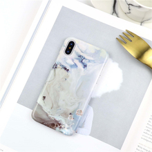 For iphone 6 6s 6plus 7 7Plus Abstract stone pattern Hard plastic case for iphone X 8 8plus Glossy back cover