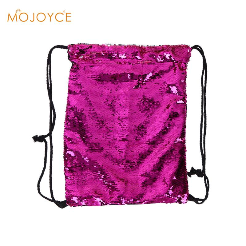 sac a dos Women Backpack Fashion Double Color Reversible Sequins Mermaid Backpacks Funny Ladies Magic Sequins Bags for Girl 2017 clwr feather reversible insulated vest women s