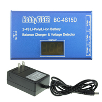 HobbyTiger BC 4S15D Battery Lithium Lipo Balance Charger With Voltage Display 1500mA ul03700 for RC Model