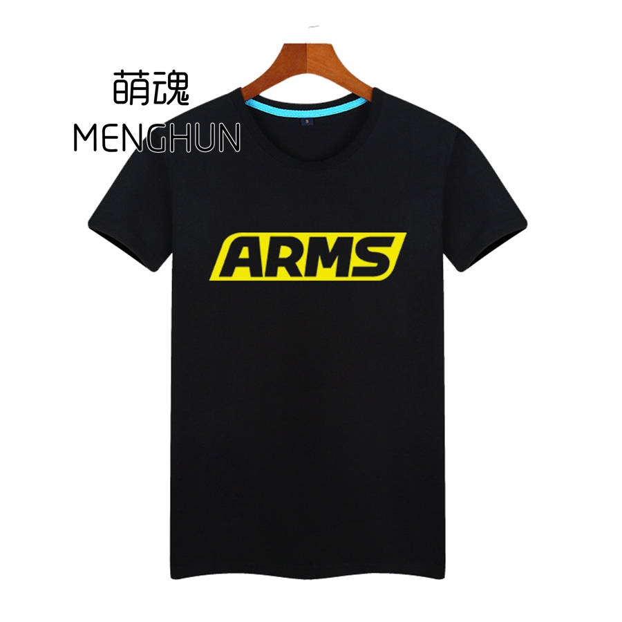 COOL new handheld console NS  switch game ARMS concept printing t shrits ARMS t shirt ac804