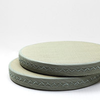 2pcs Lot Japanese Floor Cushion Seating Seat Round 50cm Zafu Zabuton Zen Meditation Seat Pad