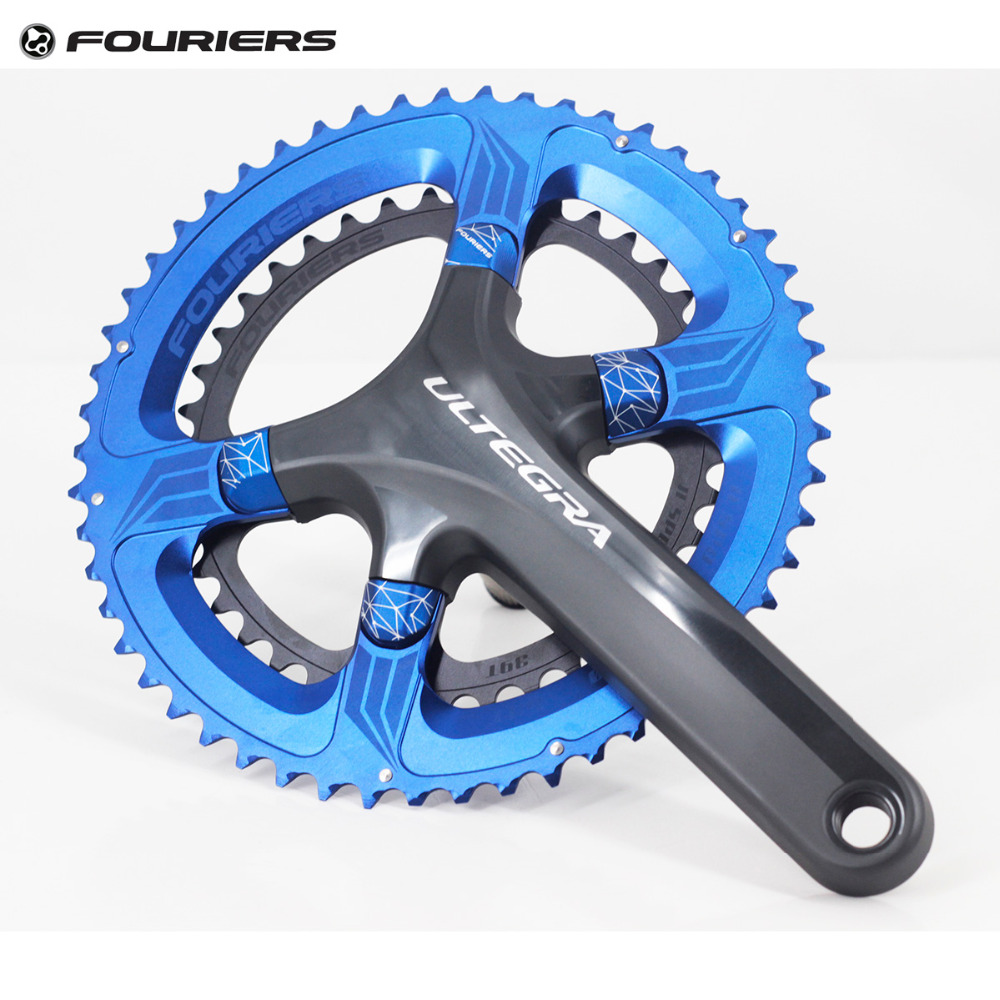 Fouriers CNC Double Chainring 110mm BCD 34t 50T 36t 52T 39t 53T for 5800 105 6800 Ultegra 9000 PCD 110 Chain Ring Crank cnc al7075 oval single chainring chain ring bcd 96 40t 42t 44t crank 1 x speed for shimano fouriers