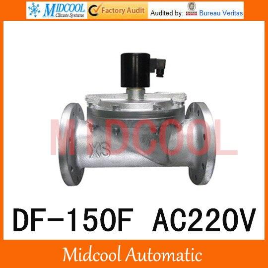 Électrovanne liquide de grand calibre AC220V c grand tuyau fluide ast matériel de fer, diamètre de bride DF-150F