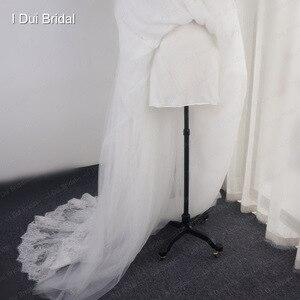 Image 4 - Robe de mariée en dentelle à bretelles Spaghetti perlées, effet dillusion, encolure, jupe courte à lintérieur, robe de mariée sur mesure en usine
