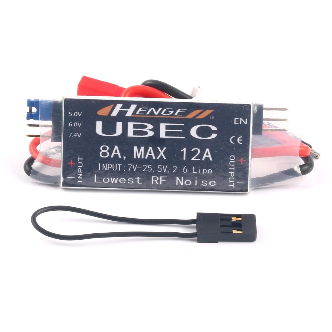 HENGE 8A UBEC salida 5 V/6 V 6A/8A Max 12A Inport 7 V-25,5 V 2-6 s Lipo/6-16 Ni-Mh entrada modo BEC para RC helicóptero