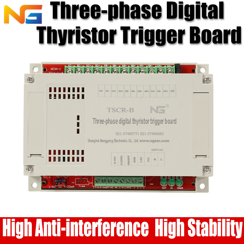 Three-phase phase shift thyristor Voltage regulator and temperature controller SCR nenggong цены