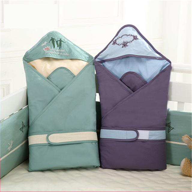 Mantas de bebé Pañales Recién Nacido Wrap Sobre Para Los Recién Nacidos de Alta Calidad Suave Otoño Invierno Mantas de Bebé de Algodón 50X0092