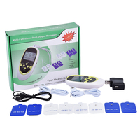 Mini Electric Massager Electrical Stimulator Full Body Relax Muscle Therapy Massager Dual Output Massage Pulse Tens