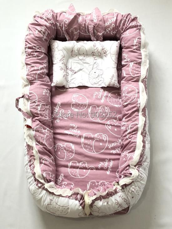 С подушкой кружева стиль принцессы-детский шезлонг/кровать Люлька-облако унисекс детское гнездо/