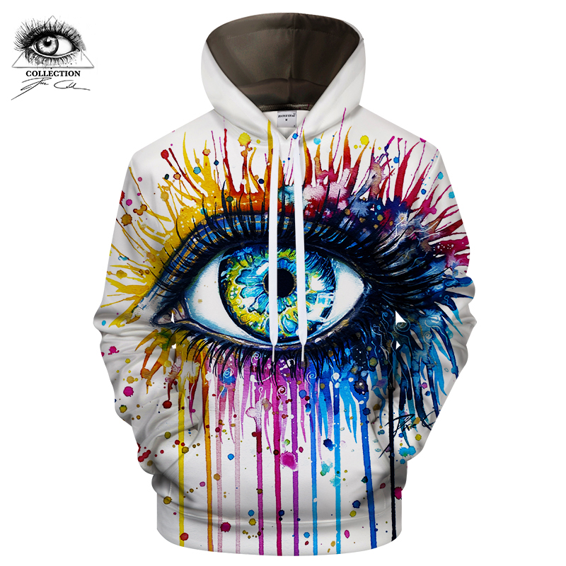 Rainbow Eye By Pixie Cold Art Hoodies Men Women 3D Sweatshirt Novelty Male Pullover Autumn Spring Tracksuit Hoody Jacket Outwear