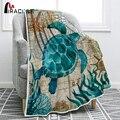 Miracille Meer Schildkröte Flanell Decke Druck Werfen Fleece Decken für Sofa Home Couch Bettwäsche-in Decken aus Heim und Garten bei