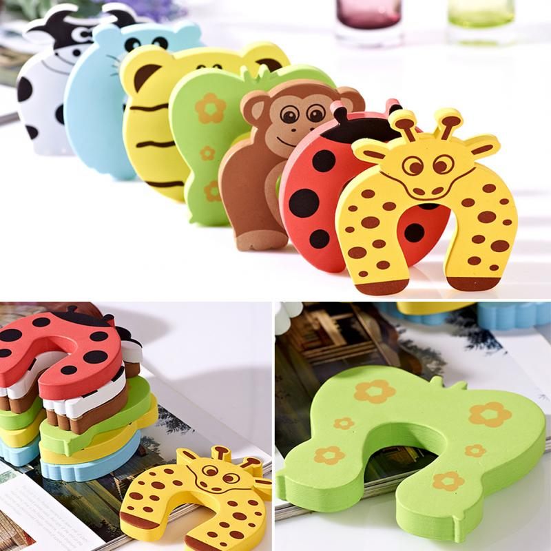 New Arrive 5pcs Cartoon Jammer Stop Door stopper holder lock Safety Guard Finger Protect new and original guard lock safety door switch d4gl 4afa a