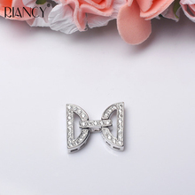 DIY Jewelry Accessories Necklace Bracelet Button Sweater chain  Zircon Multilayer Button Pearl Necklace Buckle