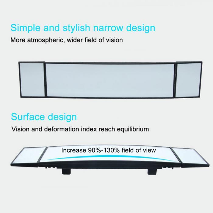 Carro grande curva convexo interior refletor clipe