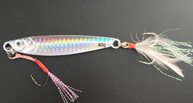 Hot Sale 1 Pieces40g 80mmMetal Lure Fishing Spoon Freshwater Fishing Hard LureSliceJigBait Spoon Fishing Tackle Metal Jigging