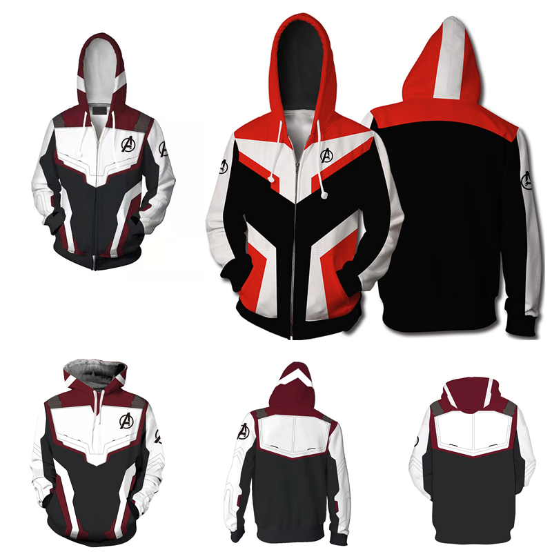Avengers 4 Endgame The Advanced Tech Suits 3D Print Hoodies Cosplay Costume Man Casual Zipper Sweatshirt