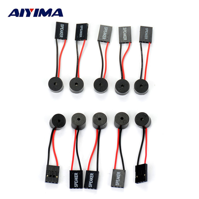 AIYIMA 10 piezas nueva placa base PC Interanal BIOS Mini a bordo caso alarma zumbador altavoz