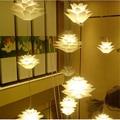 2016 novelty excellent decorativos novelty enigma do iq lâmpada moderna luz pingente pinha lótus criativo led e27 35/45/55 cm branco