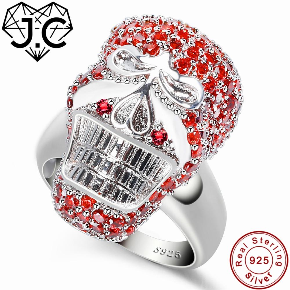 J.C Eternity Fine Jewelry Garnet & White Topaz 925 Sterling Silver Ring Size 6 7 8 9 Skull Design For Women/Men Part Gifts hot tub spa cover bag 228cmx228cm 244cmx244cm 231cmx231cm 213cm x213cm 183cmx183cm other size available for swim spa cover