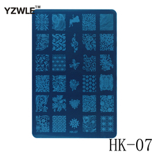 1 Sheet 2016 New Styles 9 5x14 5cm HK Series Stainless Steel Stamping Nail Art Image