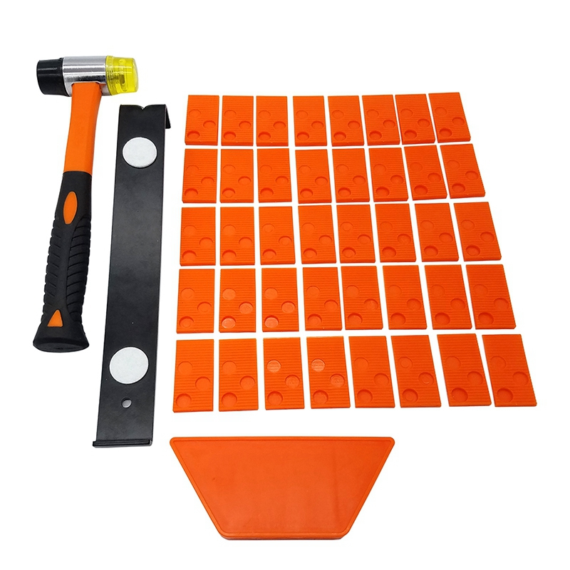 Hot Laminate Wood Flooring Installation Kit With 40 Spacers Tapping Block Heavy Duty Pull Bar Diameter 35mm Fiberglass Mallet